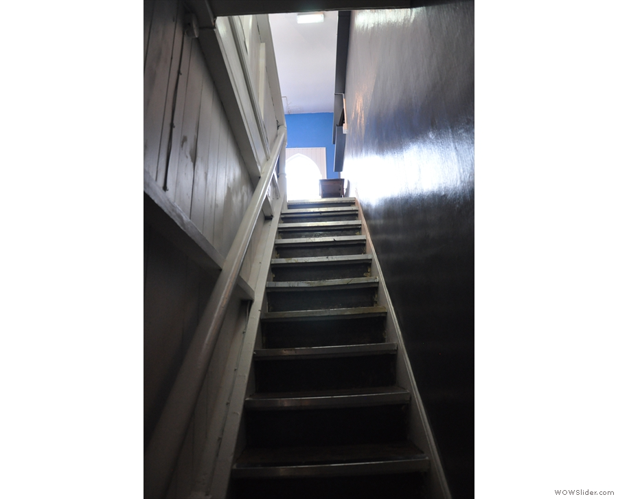 ... to another flight of stairs...