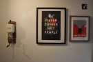 Kapow Coffee doubles as an art gallery with lots of interesting pieces on its walls...