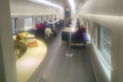 ... and, in the middle of the train, the dining car!