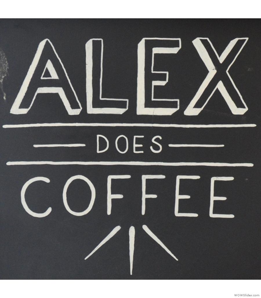 Alex Does Coffee, a lovely little spot in an artists studio in Bristol.