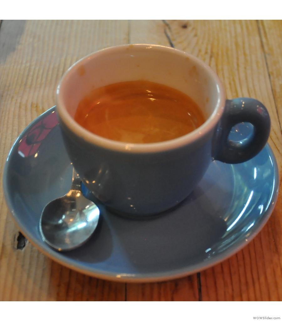 La Gelatiera, New Row: top-quality espresso in a central London ice-cream parlour.