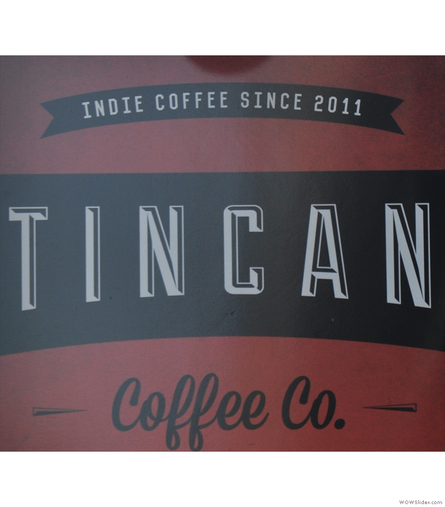 A second Bristol entry, Tincan Coffee Co, Clare Street, now sadly closed.
