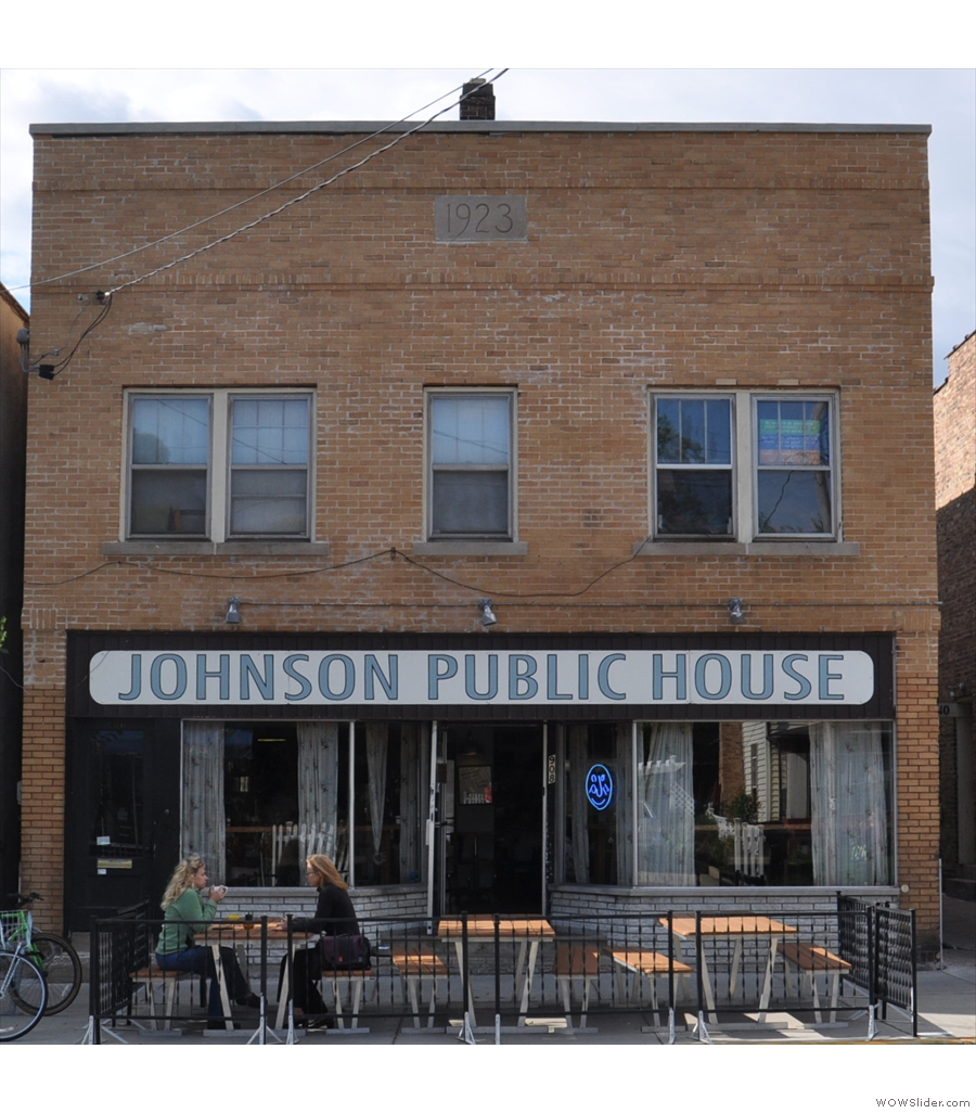 Johnson Public House, the coffee shop version of the pub on the corner.