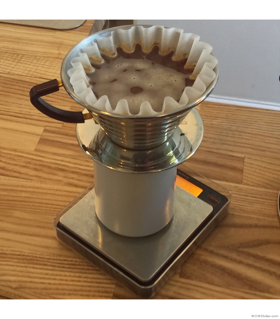 Glasgow's Kaf Coffee, making good use of the Kalita Wave with a range of guest roasters.