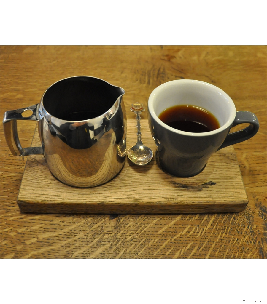 TAP, Russell Square, the latest TAP, turning out the same excellent pour-over coffee.