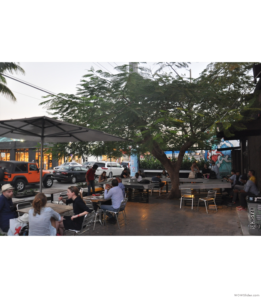 Miami's Panther Coffee, making the most of the climate with a large, outdoor seating area.