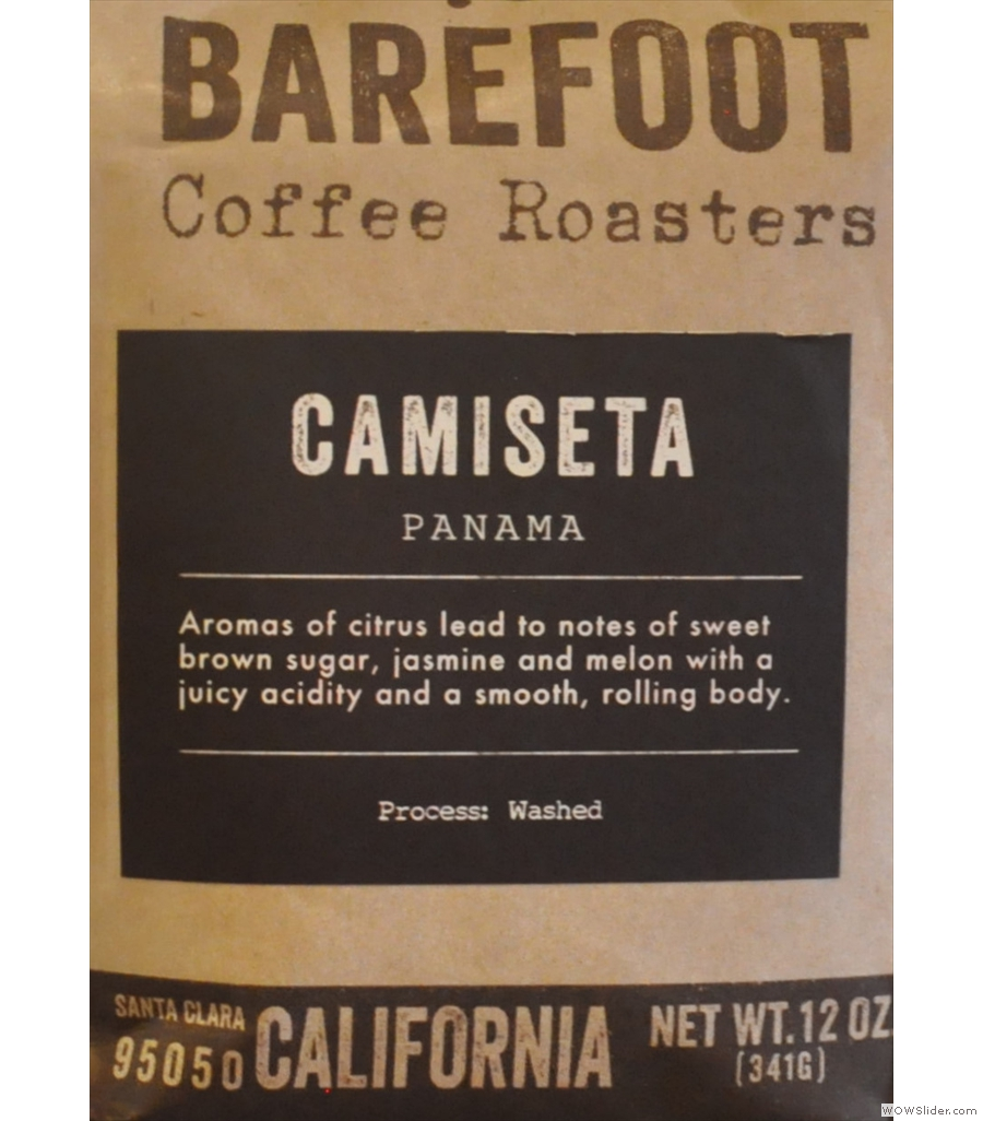 Barefoot Coffee Campbell, where I enjoyed the seasonal winter/spring blend, The Boss.