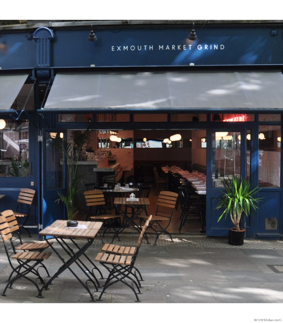 Back in London, at Exmouth Market Grind, to try its Peruvian single-origin espresso.