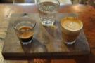 Cartel Coffee Lab, Tempe, where I had a lovely split shot. So beautifully presented too.