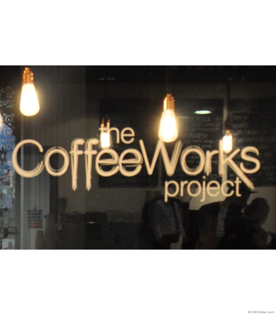 CoffeeWorks Project, a wonderful hideaway from the bustle of Leadenhall Market.