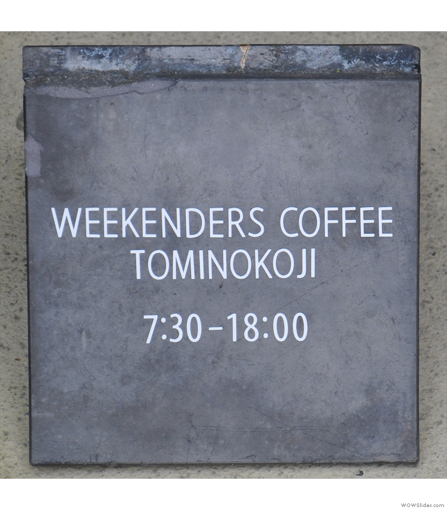 Weekenders Coffee, a second entry from Kyoto with just enough space for a bench!