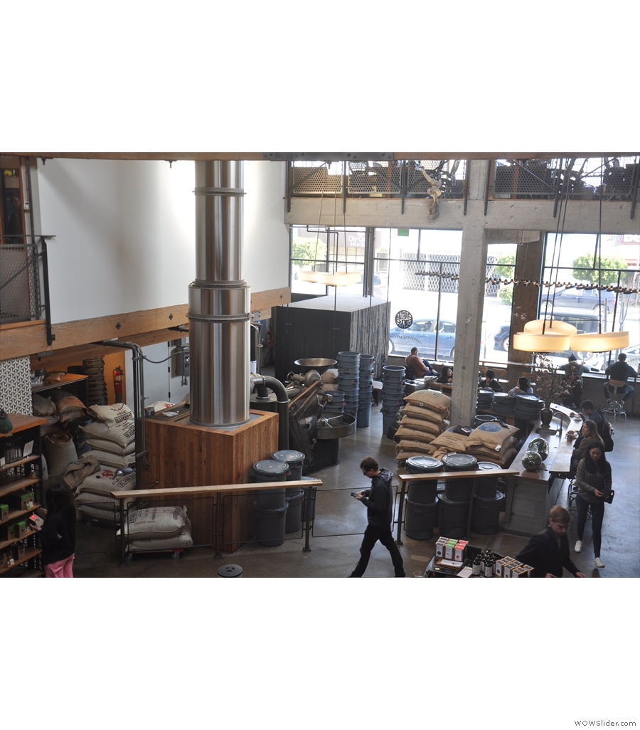 Sightglass Coffee Bar & Roastery, one of San Francisco's iconic coffee shop/roasters.