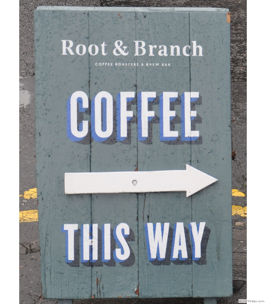 Root & Branch, Belfast's smallest coffee roastery & possibly smallest coffee shop too.