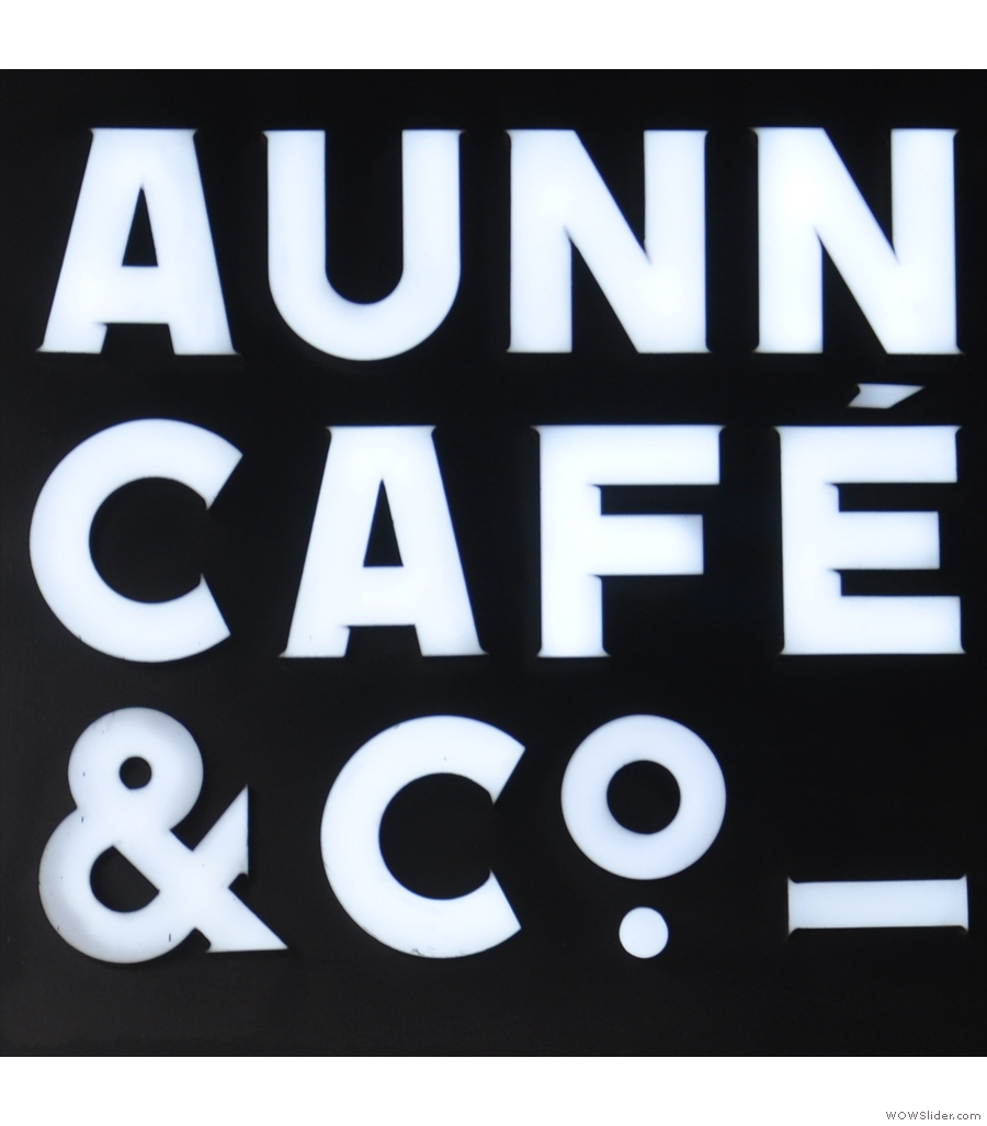 AUNN Cafe & Co. from Shanghai, a large, bright coffee shop serving Little Bean coffee.