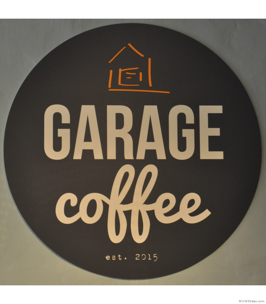 Garage Coffee at Fruitworks, multiple, connected spaces, each with its own character.