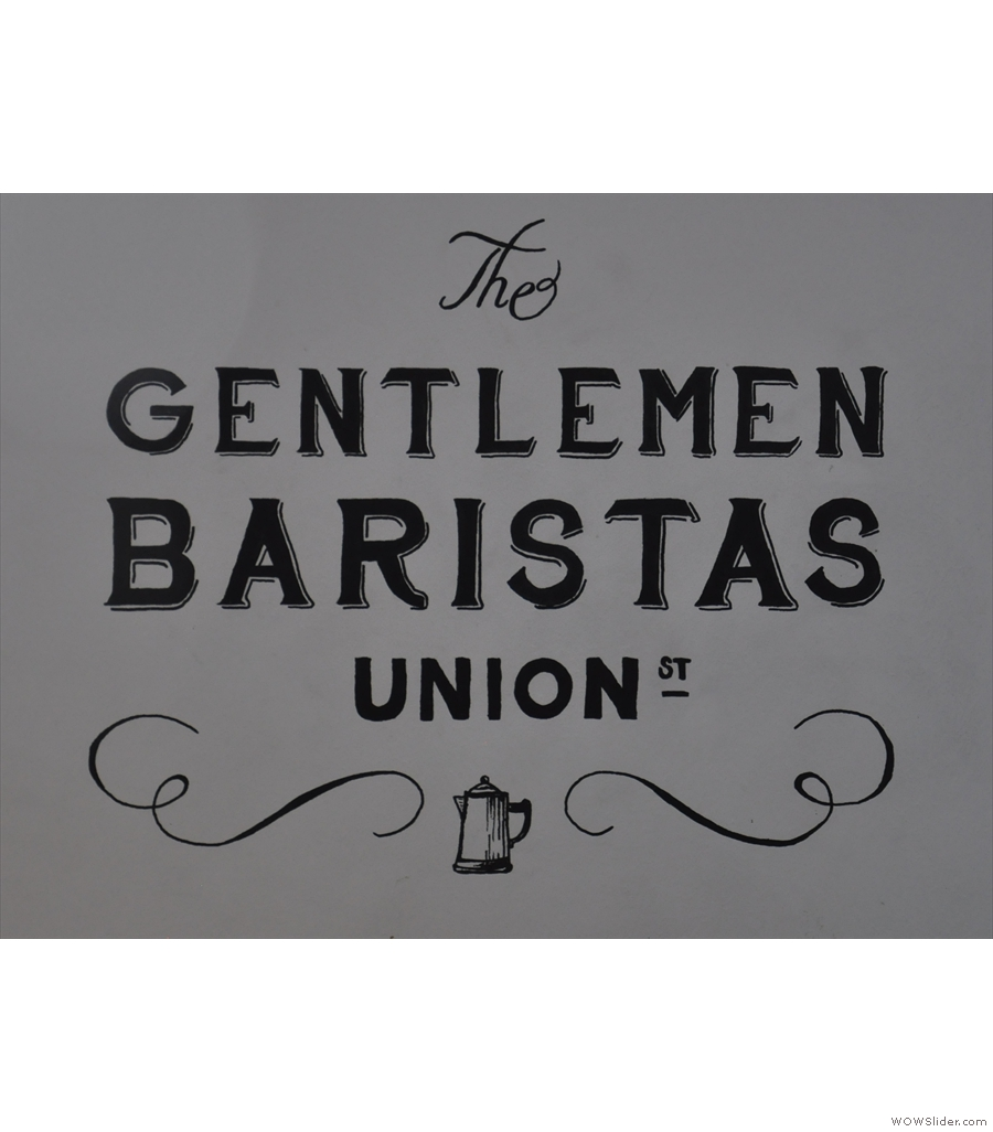 The Gentlemen Baristas, Union Street, spread over two floors with a lovely interior.