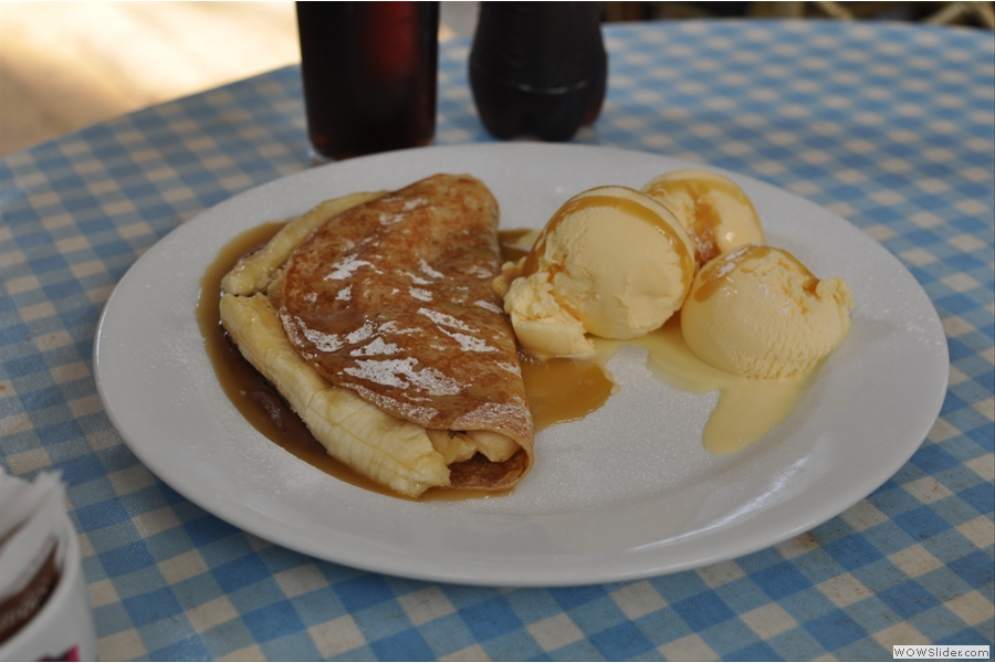 And, if you believe Kate, the whole point of coming to the Plan: the pancake!