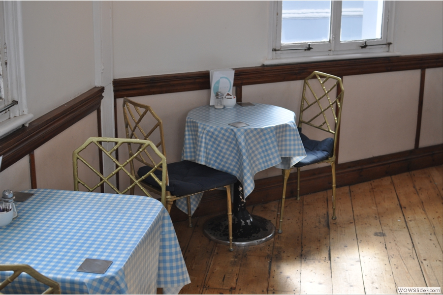More of the upstairs seating. Upstairs you get tablecloths...