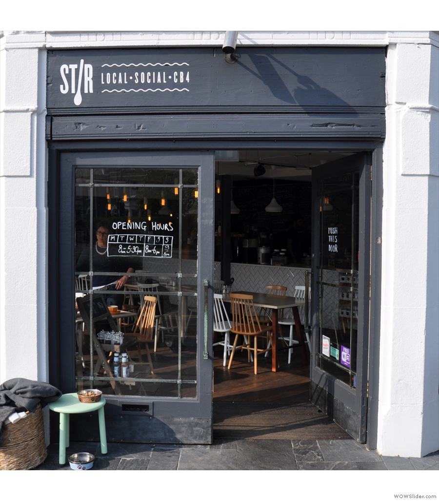 First up in this year's Most Popular shortlist is Stir, flying the flag for Cambridge.