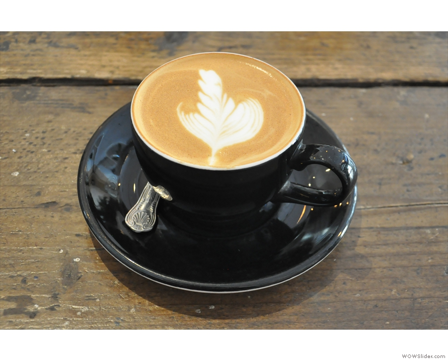 I'd also popped in earlier in the year when I'd had a very fine decaf flat white...