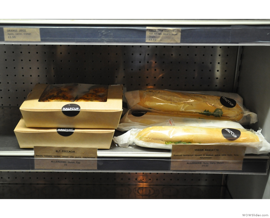 If you fancy something a little more savoury, there are sandwiches in the chiller cabinet.