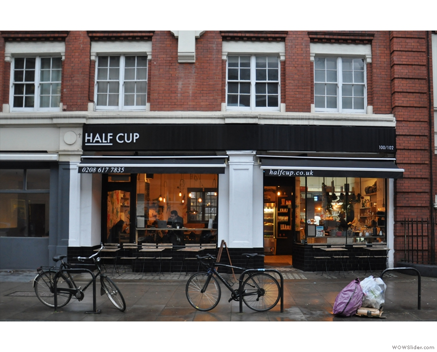 On Judd Street, just south of King's Cross/St Pancras, you'll find the lovely Half Cup.