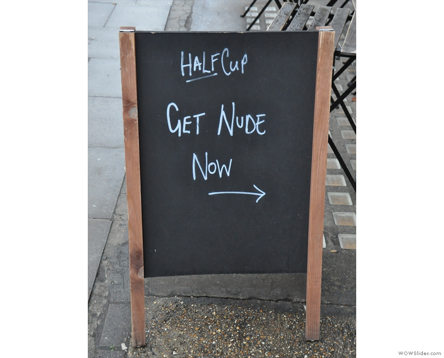Getting cute with the A-board.