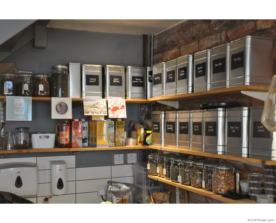 If you don't fancy coffee, then there's an impressive range of loose-leaf tea.