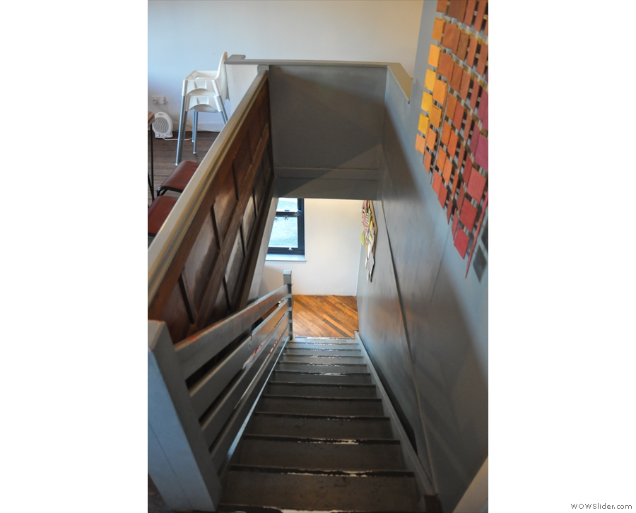 Stairs, always looking steeper from the top.