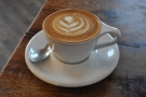 Before I left, the staff treated me to a flat white on the house.