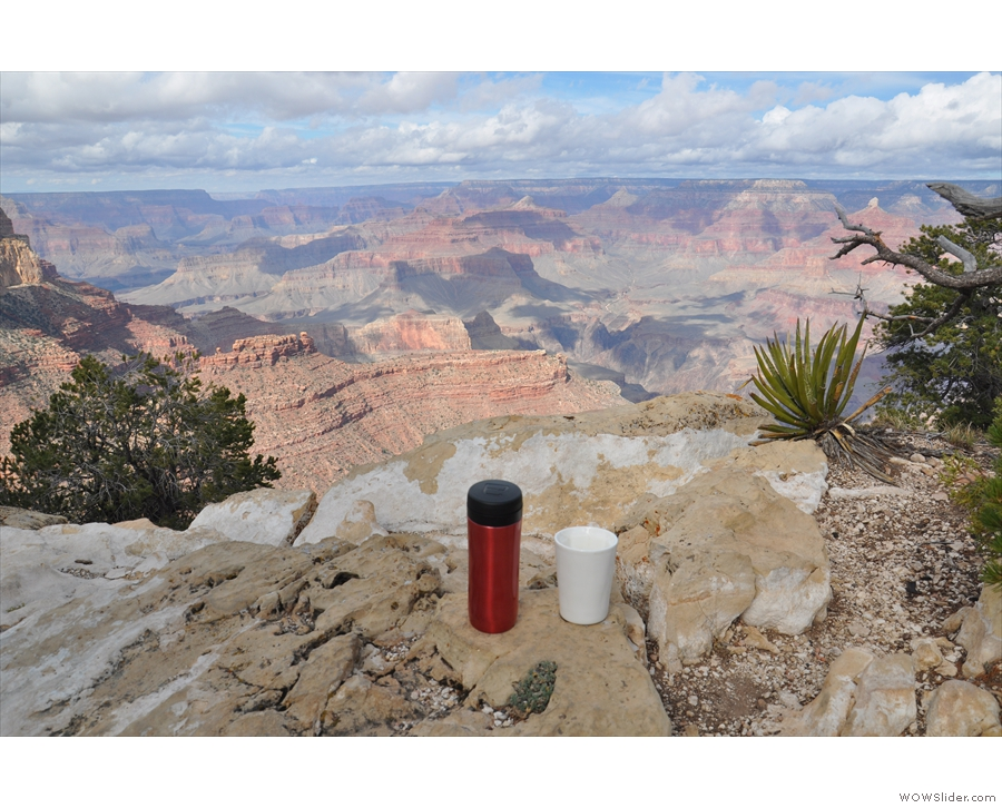 Meanwhile, my Travel Press and Therma Cup got to the south rim of the Grand Canyon...