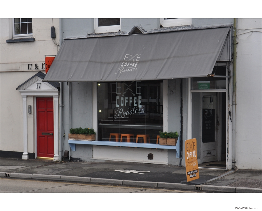 On Heavitree Road, east of the centre of Exeter, is Exe Coffee Roasters.