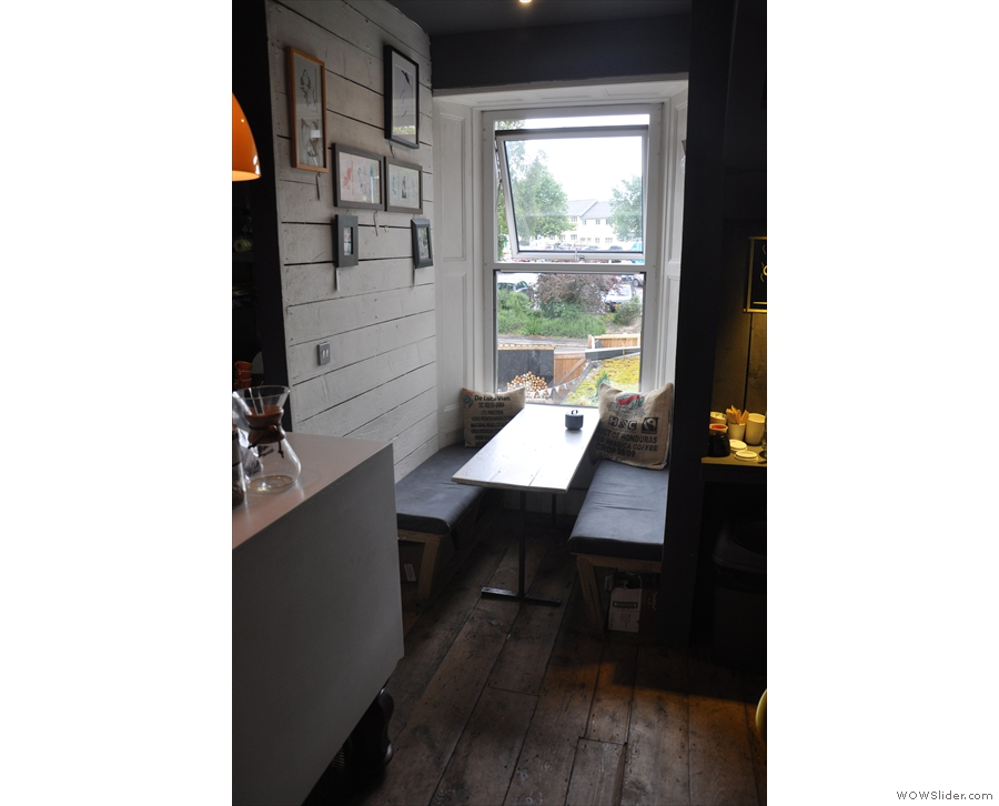Finally, at the back, beyond the counter, is a little niche with a window at the back...