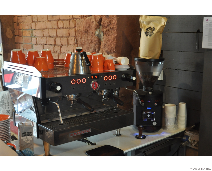 ... so that when you stand at the till to order you can watch your espresso being made.