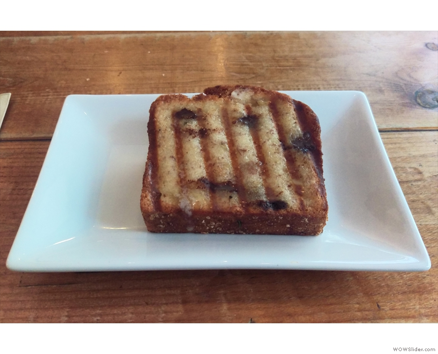 I'll leave you with an awesome slice of banana bread (toasted) from my most recent visit.