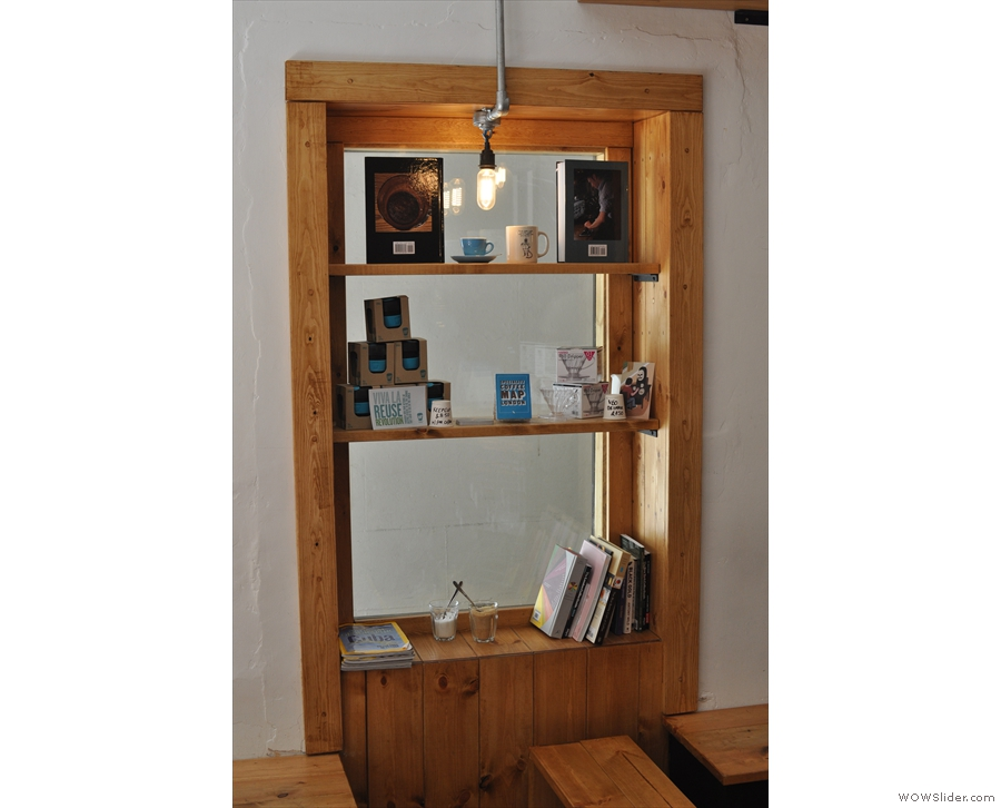 I also like the clever use of space: this window in the left-hand wall houses a set of shelves.