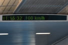 32 seconds, and we're at 100 km/h.