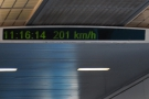 ... and not long after, we hit 200 km/h.