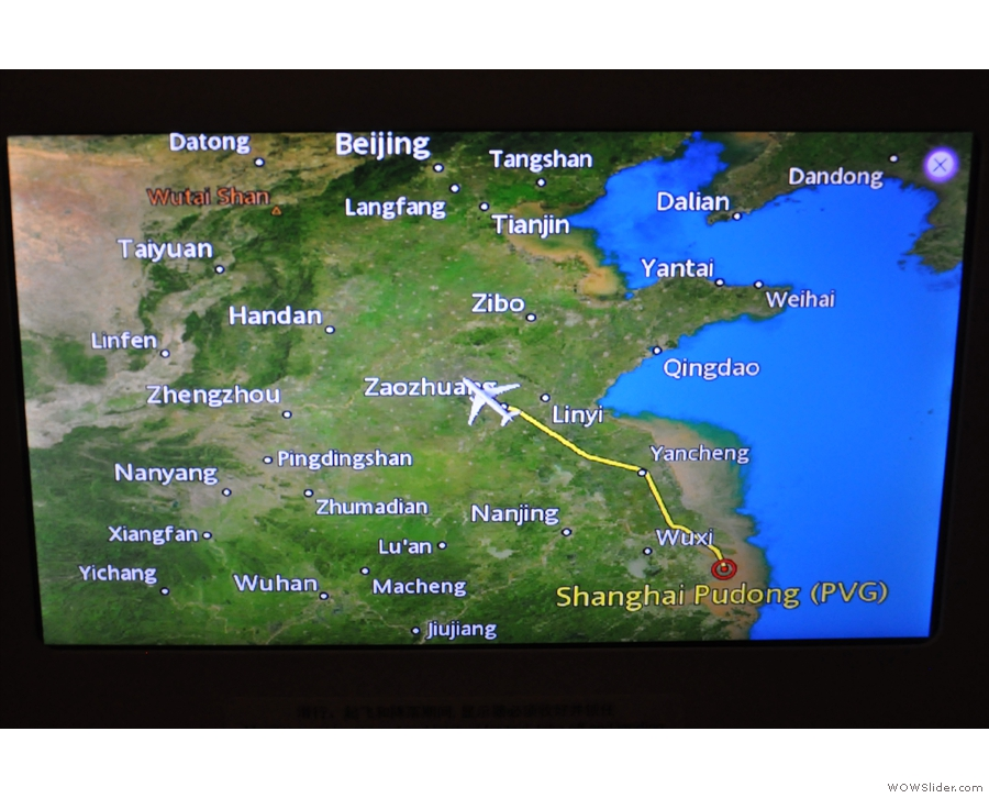 ... which is served over Zaozhuang. At least we seem to be flying straight now...