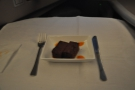 And finally, pudding. I had cake this time. The food, as on the way out, was excellent.