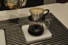 Again, the Kalita Wave is left to filter through a little between pours...