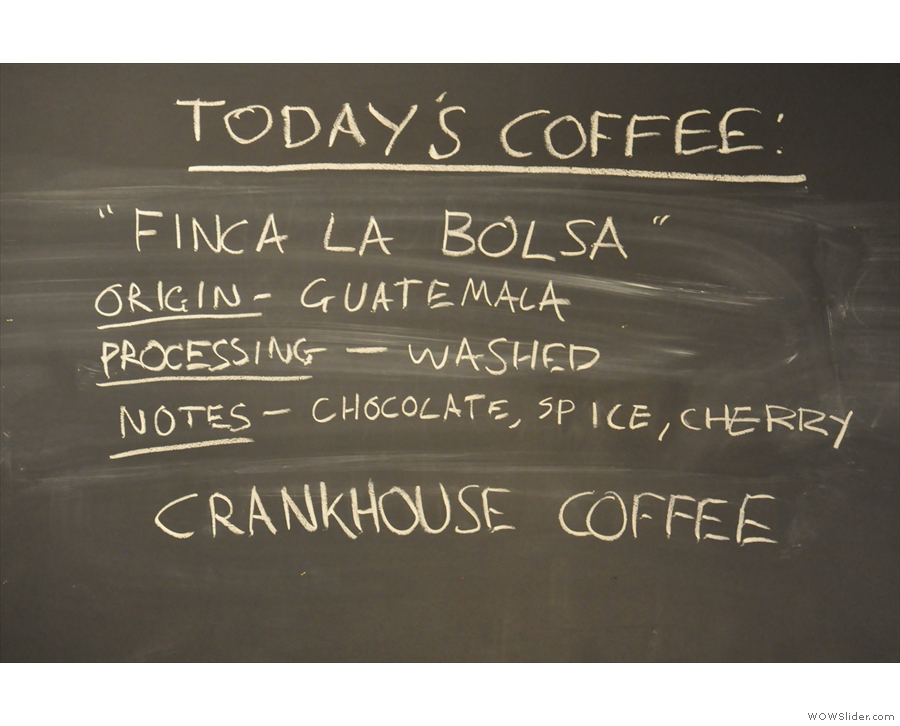 ... and some details about the current espresso.