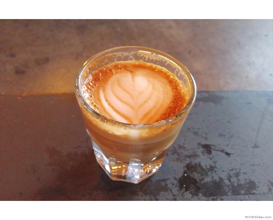 ... who made me a lovely cortado with the East Coast espresso blend.