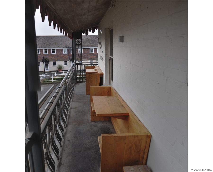 As well as the two benches at the front, there are also these bench-seats at the back.