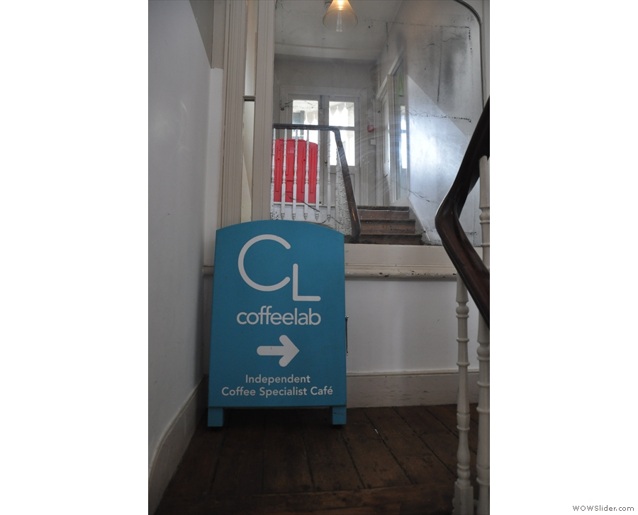 Once you're through the door, Coffee Lab is well signposted. In fact, it's obvious.
