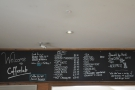 ... and to the left, where you'll find the menu over the gap in the dividing wall.