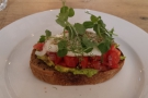 I was also there for lunch: avocado, tomato salsa and poached egg on sourdough toast.