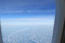 This was the view out of the window for most of the flight: fluffy clouds.