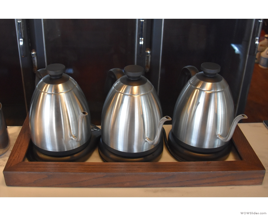 There are also three kettles. I'm liking the symmetry.