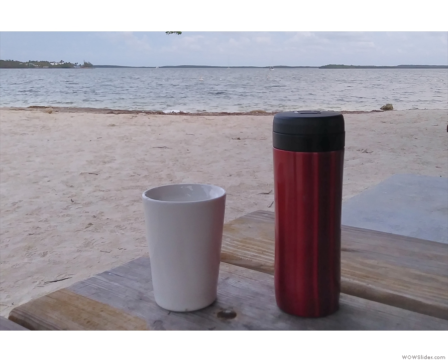 Still in the Keys, I took my coffee to Cannon Beach in Key Largo the following day.